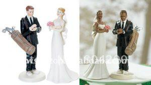 fanatiek-golfer-paar-beeldje-bruidstaart-toppers