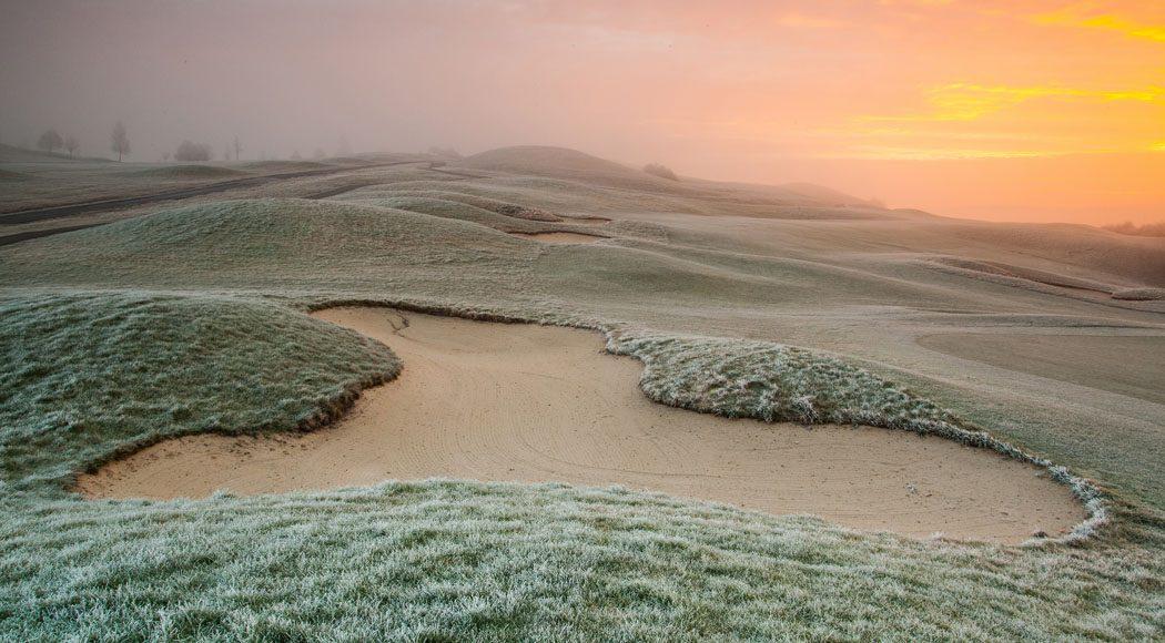 Pin High golfbaan in de winter