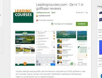 Nieuwe golfbanen app