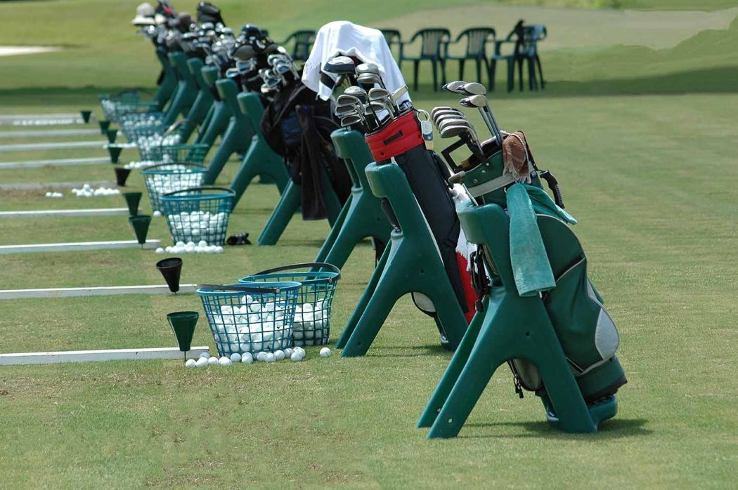 Pin High – oefenballen met golfbags